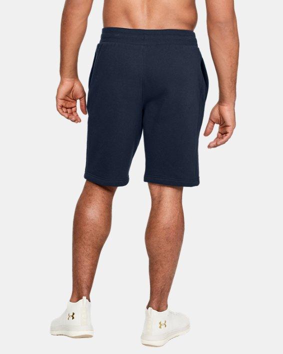 Men's UA Rival Fleece Shorts, Navy, pdpMainDesktop image number 2