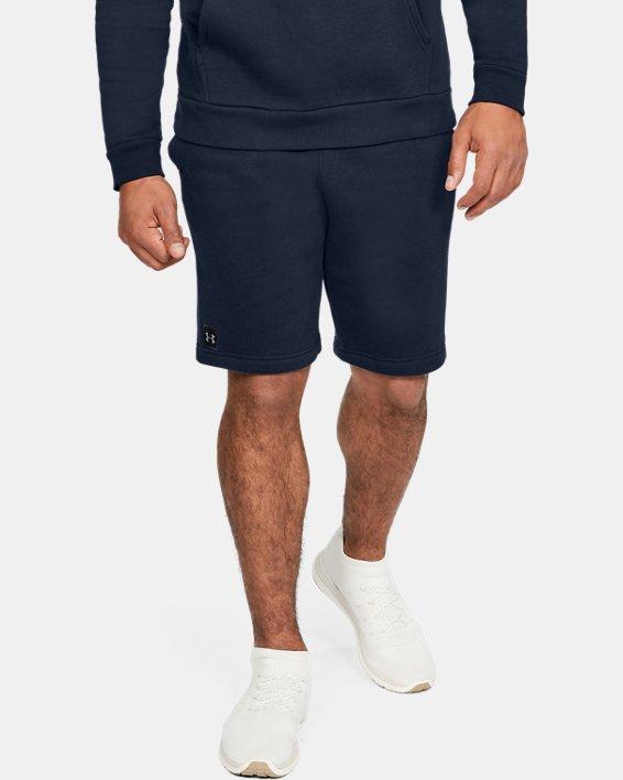 Men's UA Rival Fleece Shorts, Navy, pdpMainDesktop image number 0