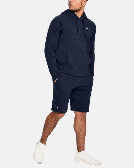 Men's UA Rival Fleece Shorts, Navy, pdpMainDesktop image number 1