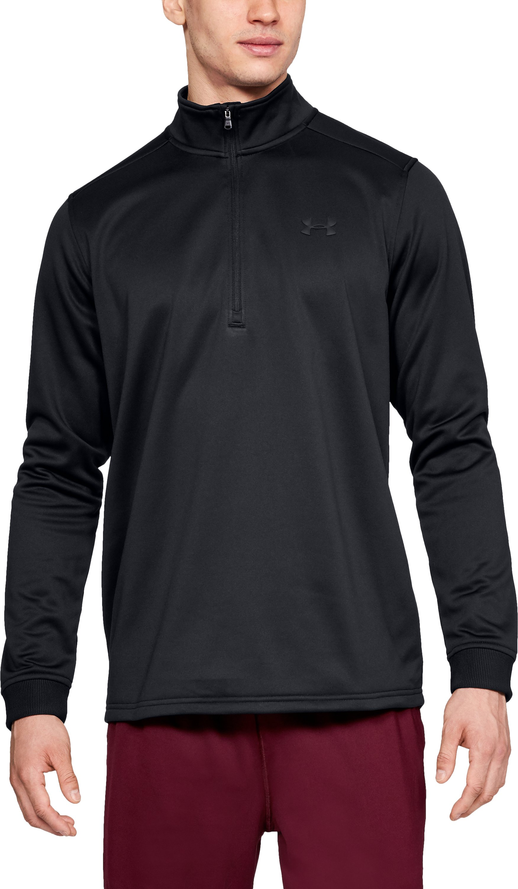 Men's Armour Fleece® ½ Zip, Black