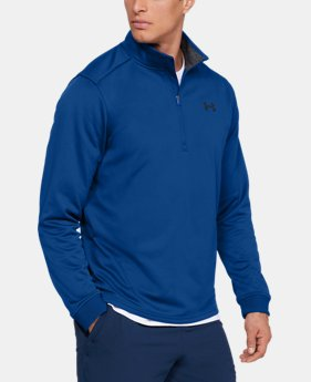 New Arrival Men's Armour Fleece® ½ Zip  1  Color Available $55