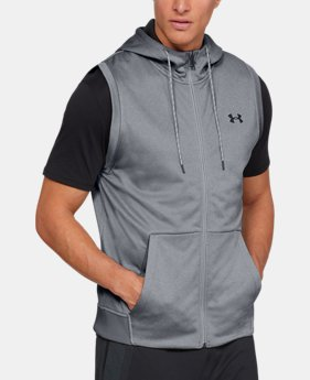 Best Seller Men's Armour Fleece® Sleeveless Full Zip Hoodie  2  Colors Available $60