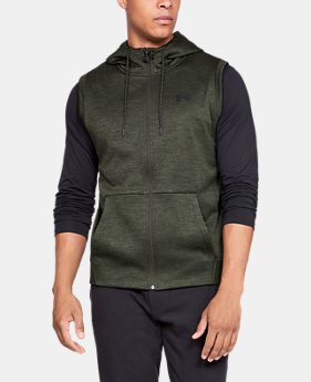 Best Seller Men's Armour Fleece® Sleeveless Full Zip Hoodie  1  Color Available $60