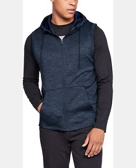 Best Seller  Men's Armour Fleece® Sleeveless Full Zip Hoodie  1  Color Available $75