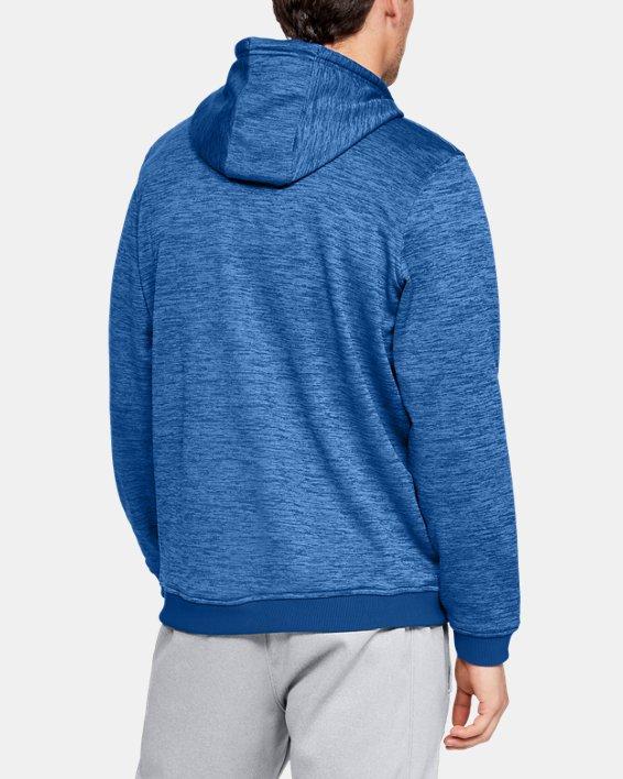 Men's Armour Fleece® Twist Hoodie, Blue, pdpMainDesktop image number 2