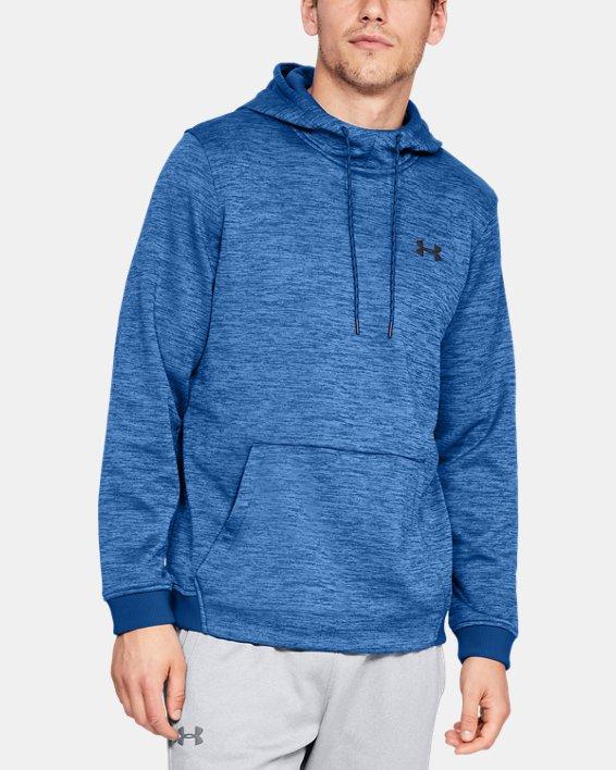 Men's Armour Fleece® Twist Hoodie, Blue, pdpMainDesktop image number 0