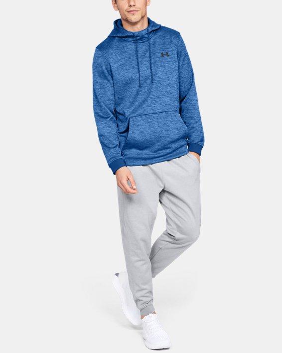 Men's Armour Fleece® Twist Hoodie, Blue, pdpMainDesktop image number 1