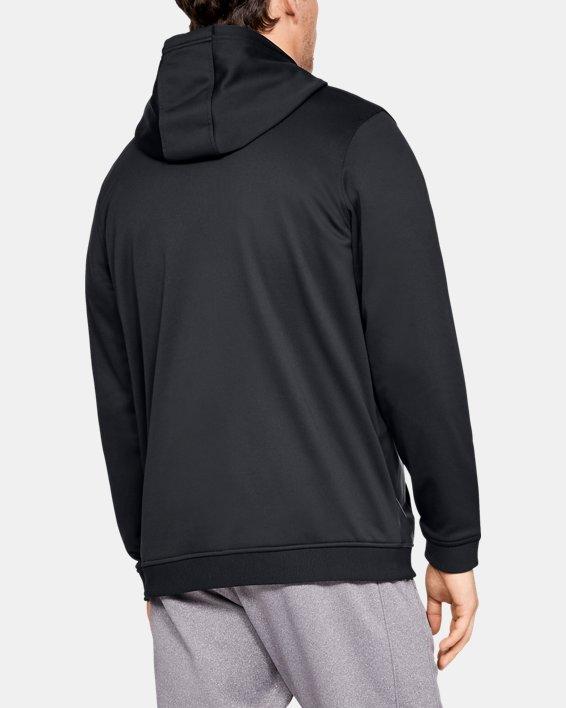 Men's Armour Fleece® Full-Zip, Black, pdpMainDesktop image number 2