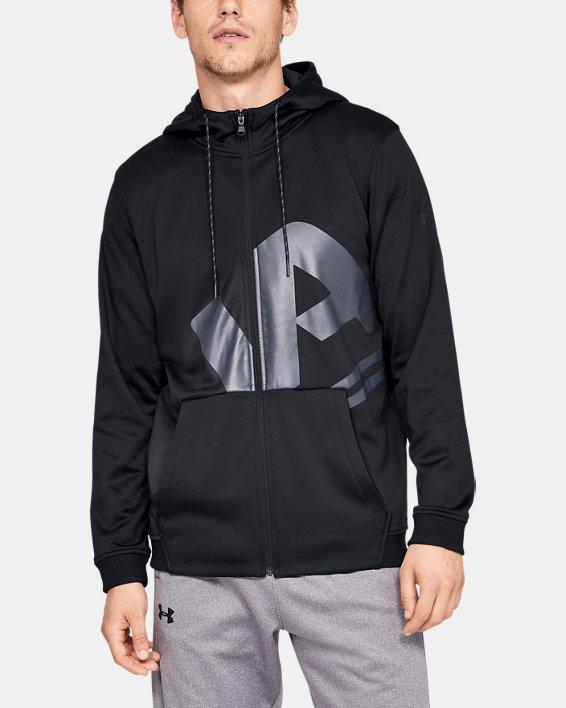 Men's Armour Fleece® Full-Zip, Black, pdpMainDesktop image number 0