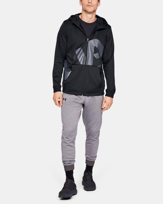 Men's Armour Fleece® Full-Zip, Black, pdpMainDesktop image number 1