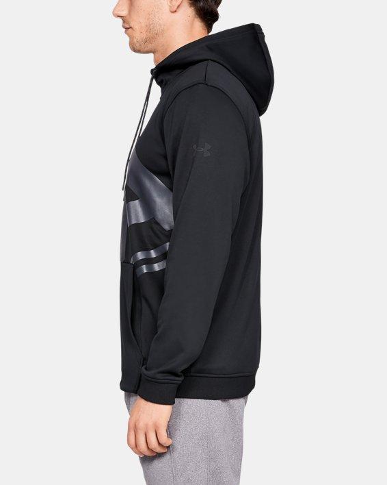 Men's Armour Fleece® Full-Zip, Black, pdpMainDesktop image number 3