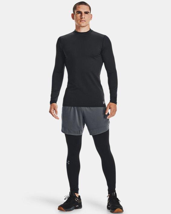 Men's ColdGear® Armour Fitted Mock, Black, pdpMainDesktop image number 1