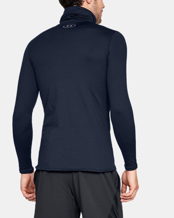 Men's ColdGear® Fitted Funnel Neck, Navy, pdpMainDesktop image number 2