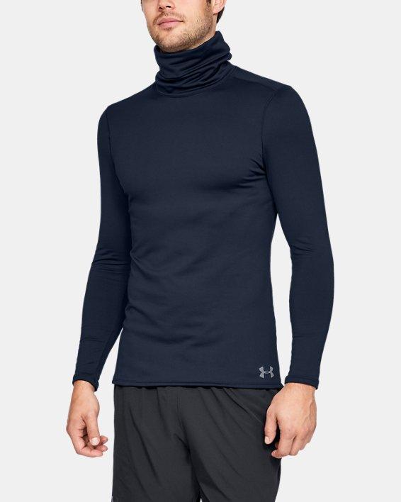 Men's ColdGear® Fitted Funnel Neck, Navy, pdpMainDesktop image number 0