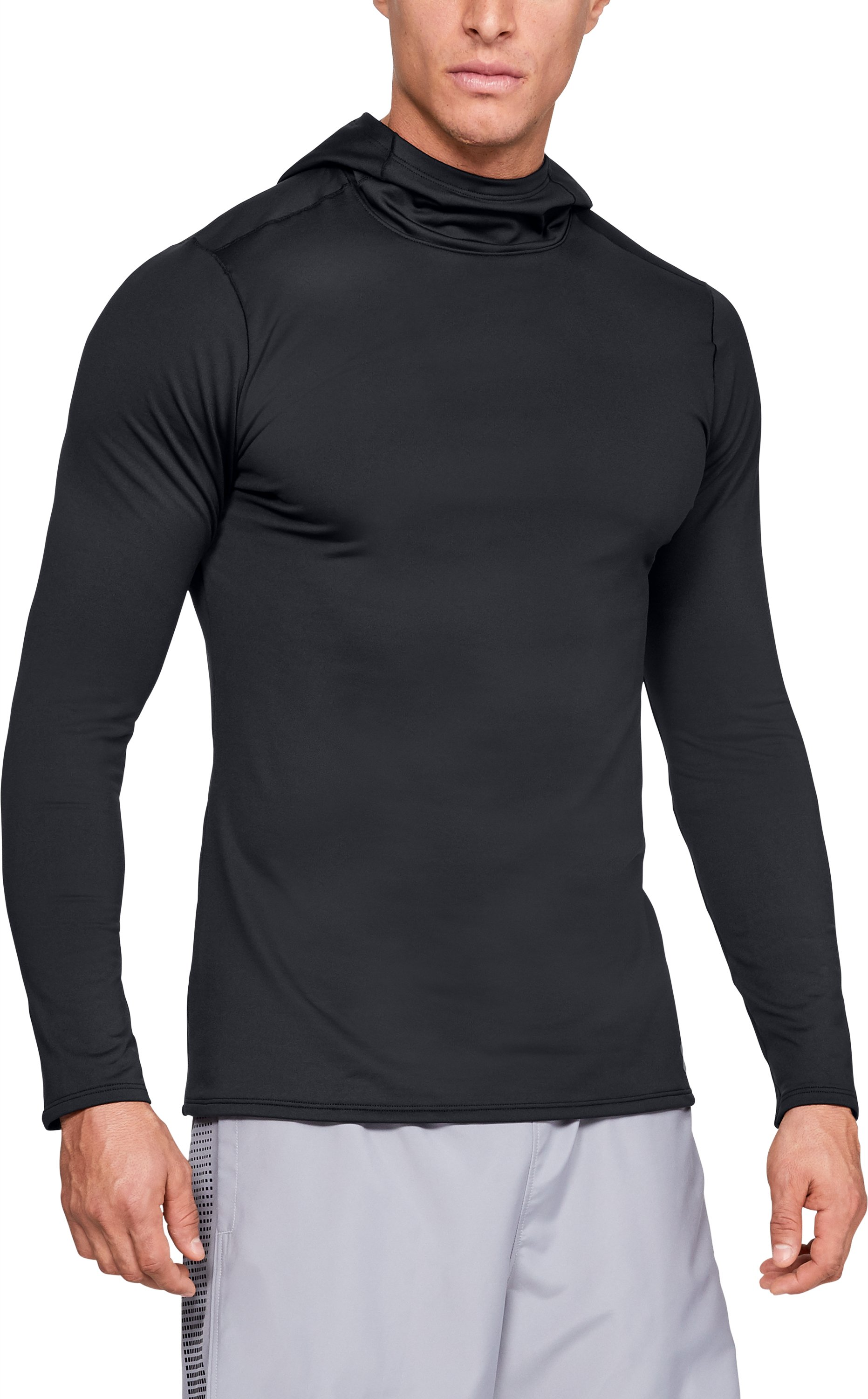 Fitted CG Hoodie, Black , zoomed