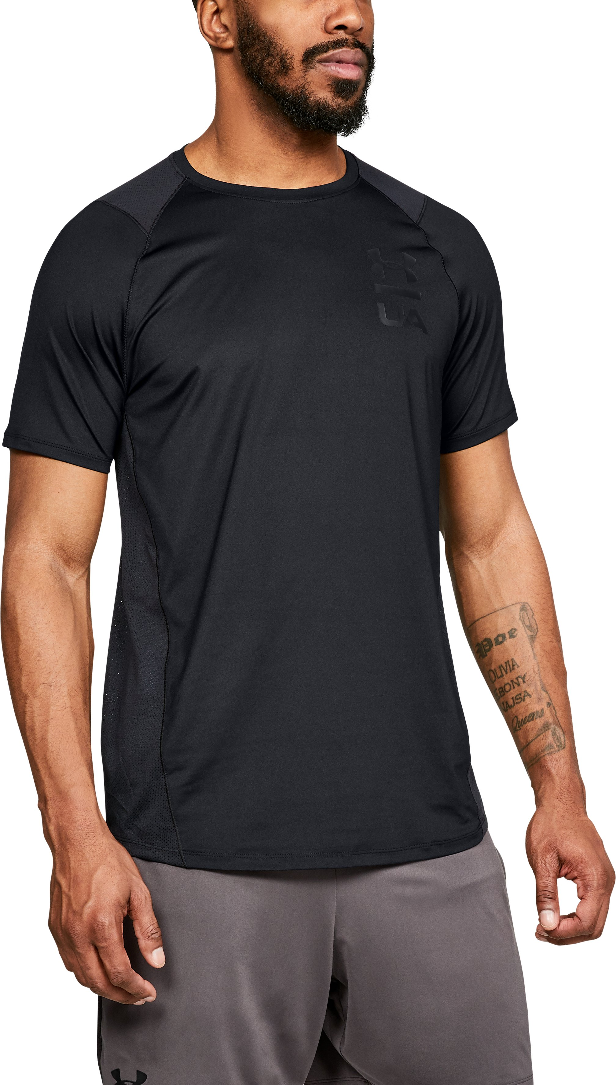 Men's UA MK-1 Logo Graphic Short Sleeve, Black