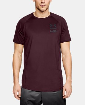 Best Seller Men's UA MK-1 Logo Graphic Short Sleeve  1  Color Available $30