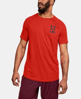 Best Seller  Men's UA MK-1 Logo Graphic Short Sleeve  1  Color Available $35