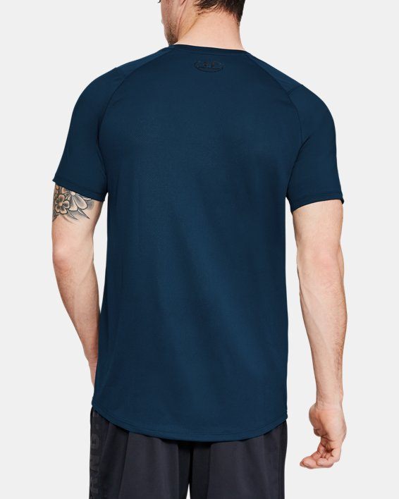 Men's UA MK-1 Logo Graphic Short Sleeve, Blue, pdpMainDesktop image number 2
