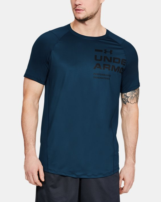 Men's UA MK-1 Logo Graphic Short Sleeve, Blue, pdpMainDesktop image number 0