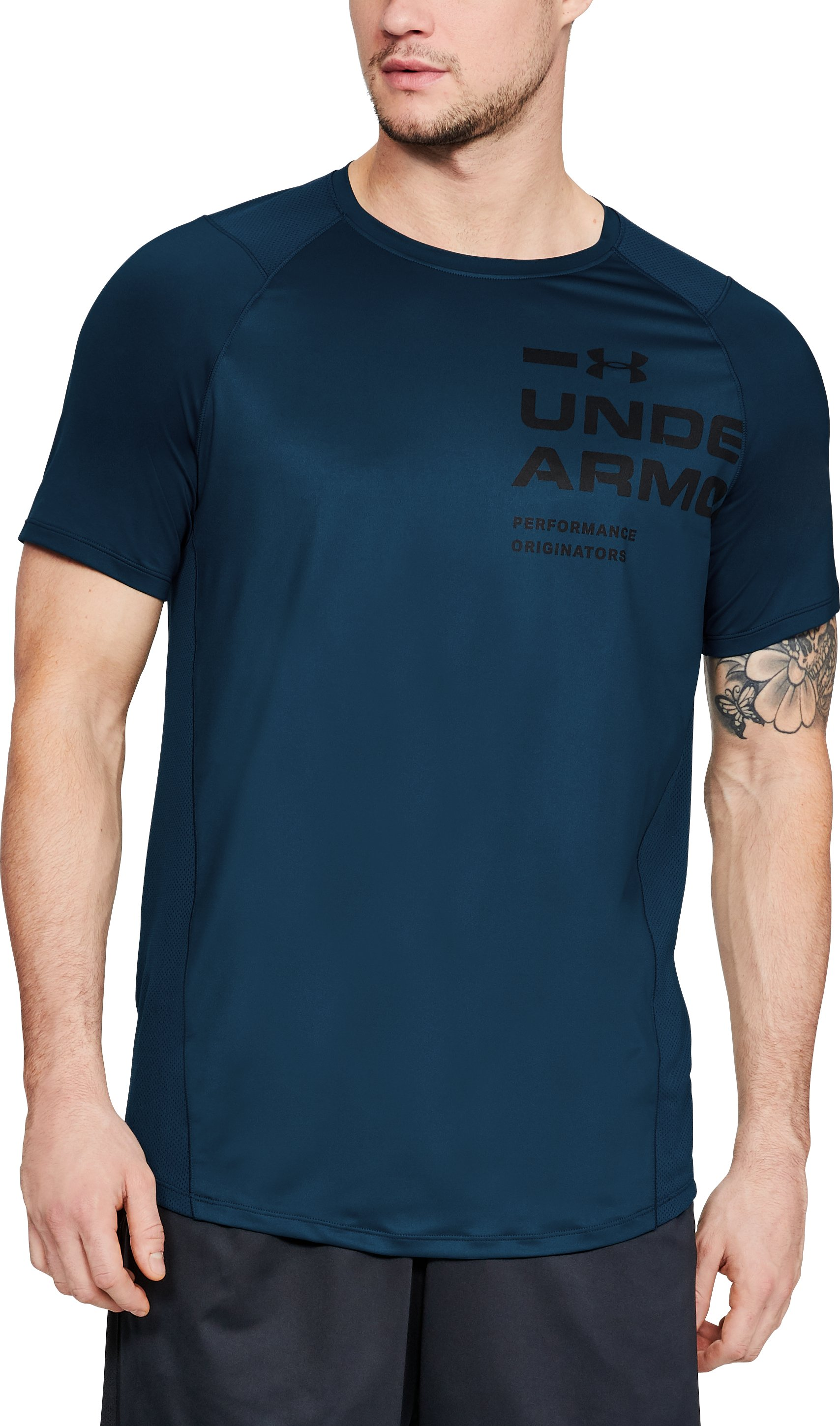 Men's UA MK-1 Logo Graphic Short Sleeve, Techno Teal
