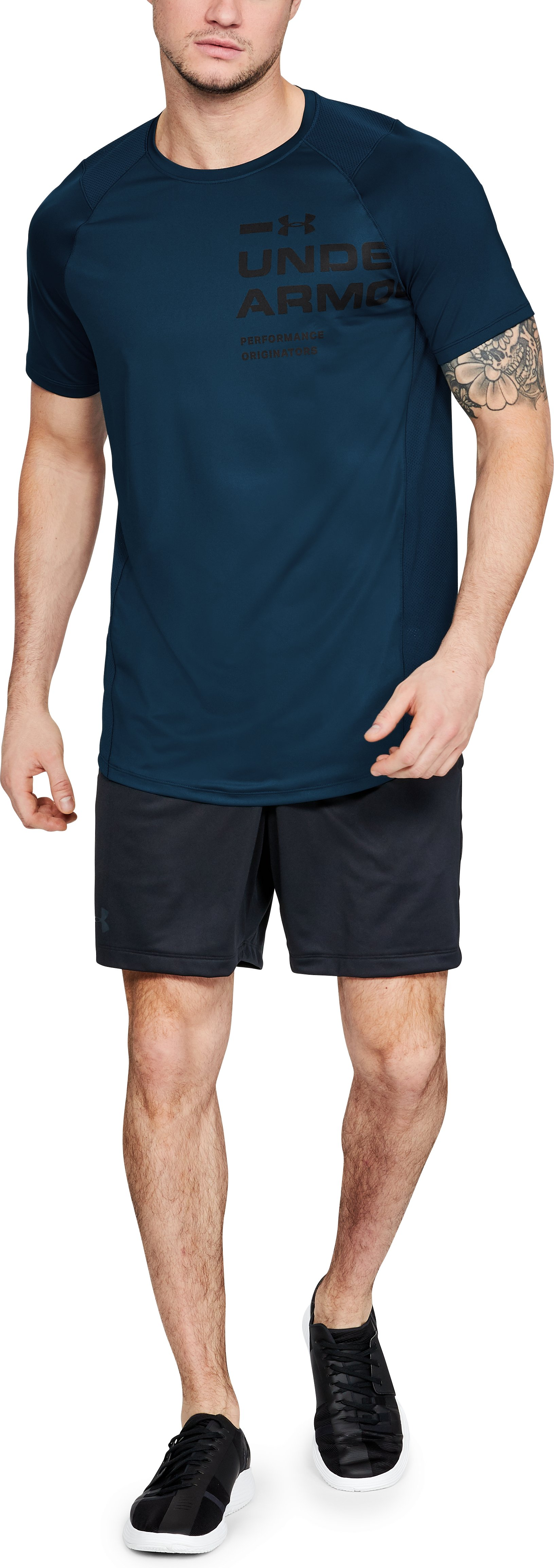 Men's UA MK-1 Logo Graphic Short Sleeve, Techno Teal,