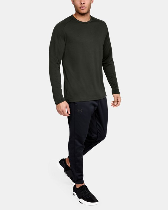 Men's UA Lighter Longer Crew, Green, pdpMainDesktop image number 1
