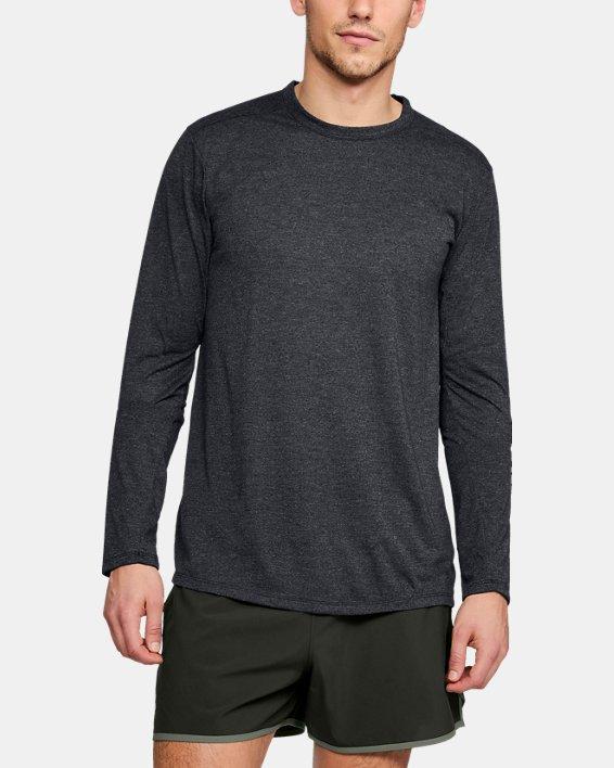 Men's UA Microthread Long Sleeve, Black, pdpMainDesktop image number 0