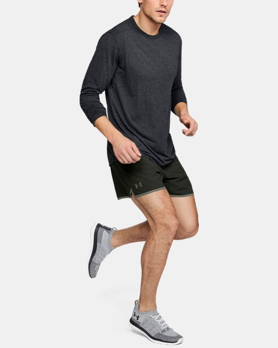 Men's UA Microthread Long Sleeve, Black, pdpMainDesktop image number 1