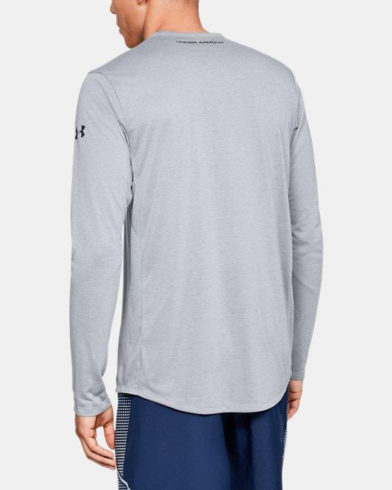 Men's UA Microthread Long Sleeve, Gray, pdpMainDesktop image number 2