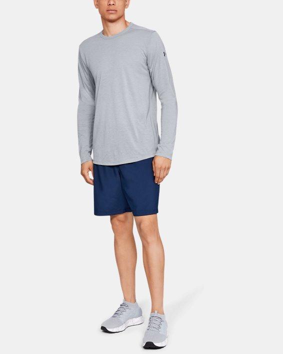 Men's UA Microthread Long Sleeve, Gray, pdpMainDesktop image number 1