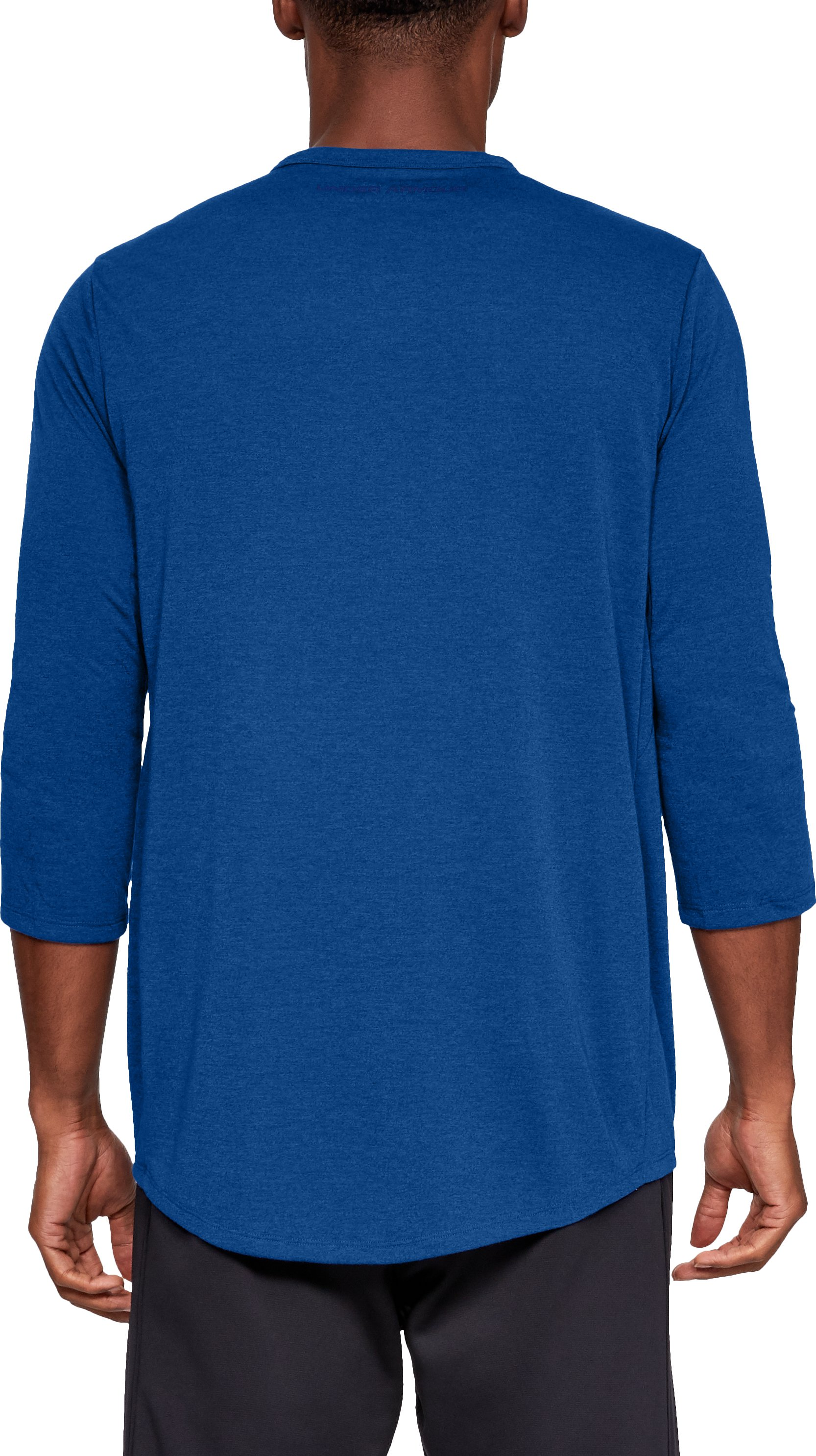 Men's UA Microthread Utility T-Shirt, Royal,