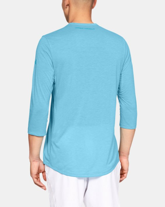 Men's UA Microthread Utility T-Shirt, Blue, pdpMainDesktop image number 2