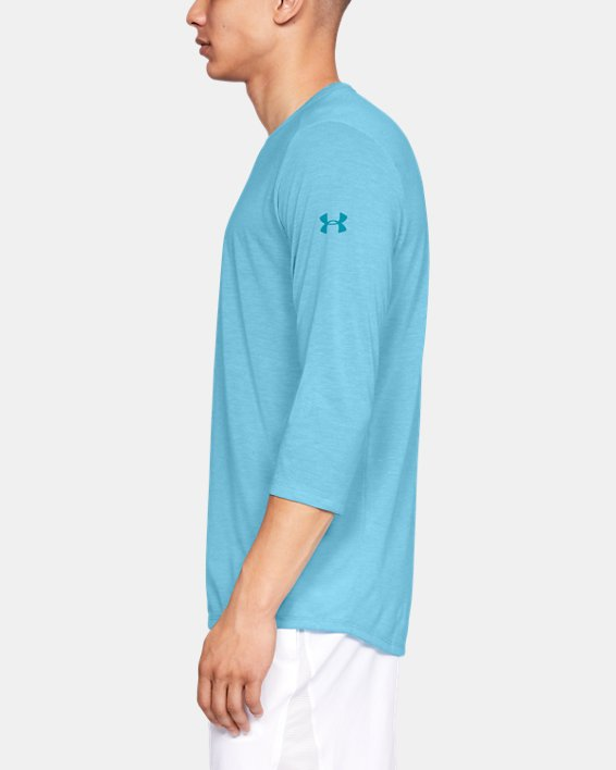 Men's UA Microthread Utility T-Shirt, Blue, pdpMainDesktop image number 3