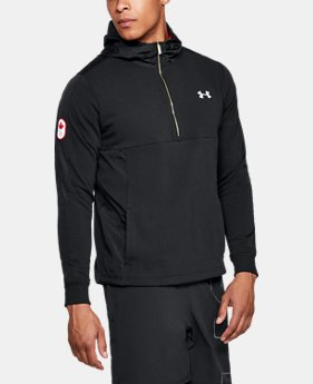Men's UA Team Canada Performance Threadborne Terry ½ Zip Hoodie  1  Color Available $48.99