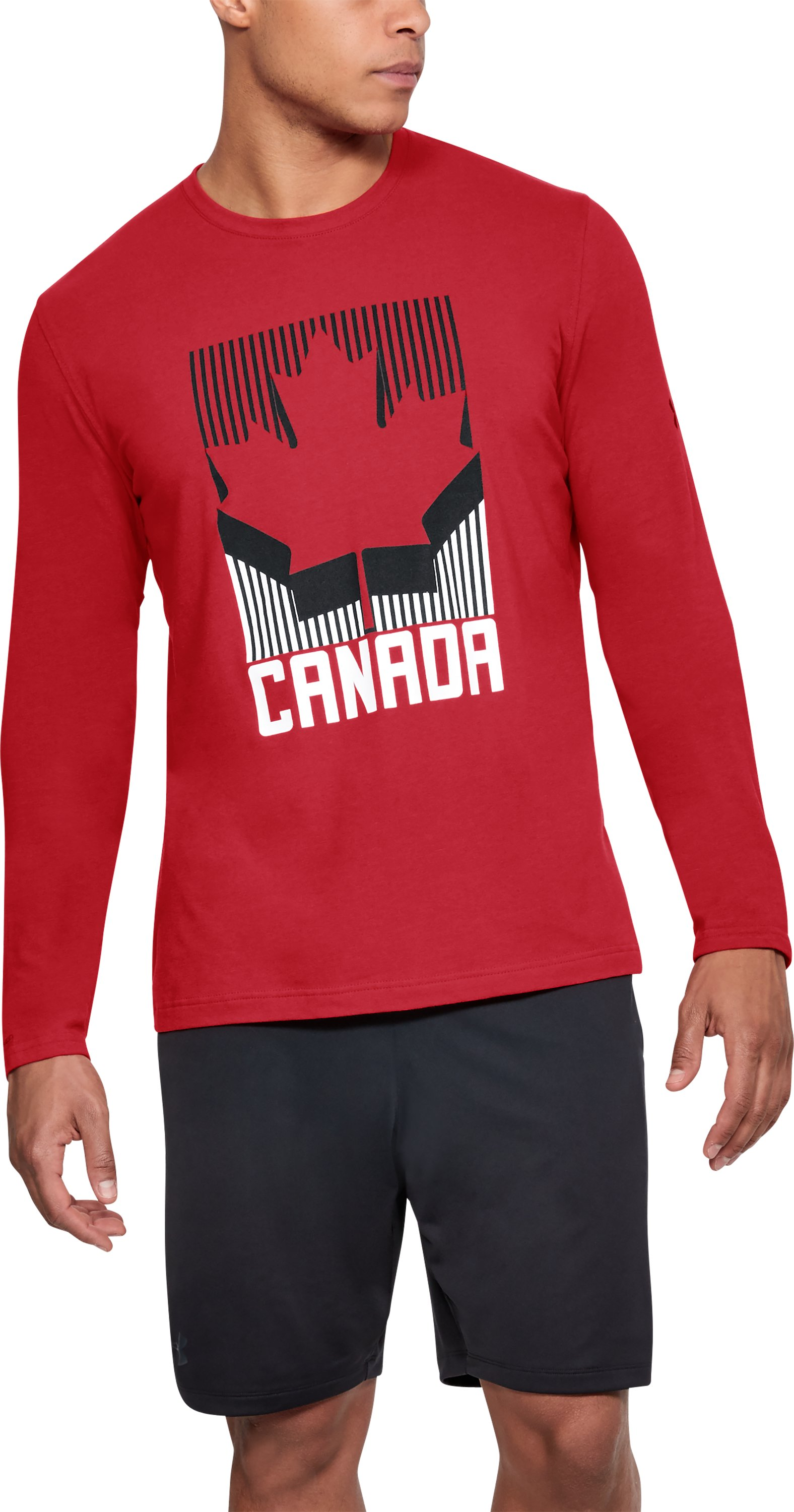 Men's UA Team Canada Performance Long Sleeve T-Shirt, Red, zoomed
