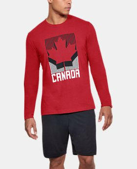 Men's UA Team Canada Performance Long Sleeve T-Shirt  1  Color Available $30.99
