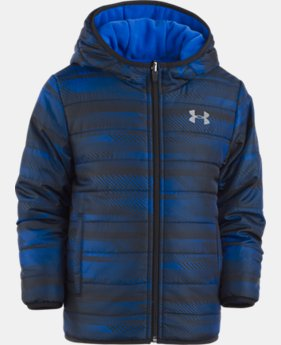 New Arrival Boys' Pre-School UA Speedlines Reversible Puffer Jacket   $84.99