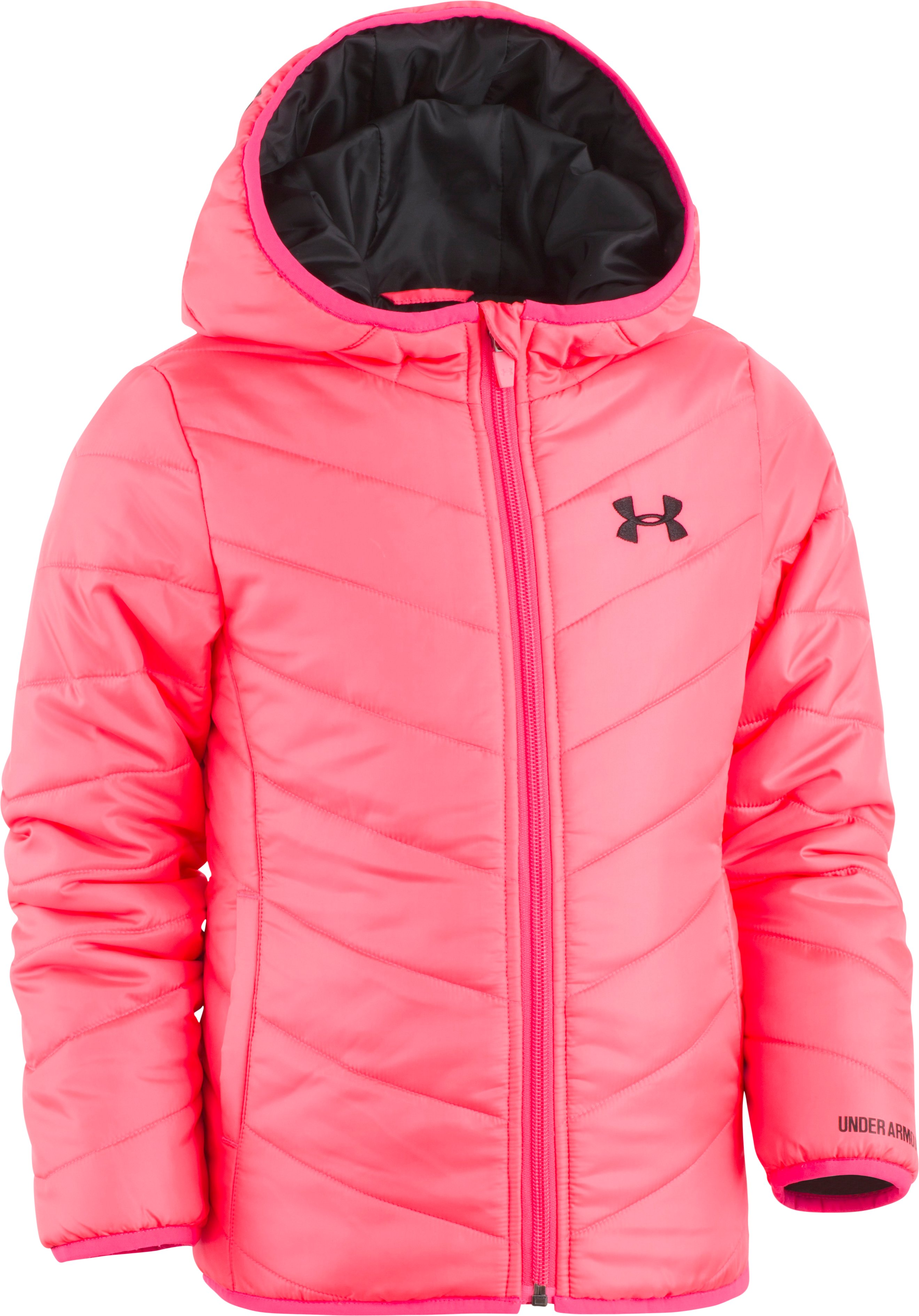 Girls' Infant UA Premier Puffer Jacket, PENTA PINK, Laydown