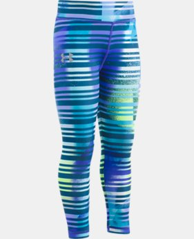 New Arrival Girls' Pre-School UA Stripey Leggings  1 Color $29.99
