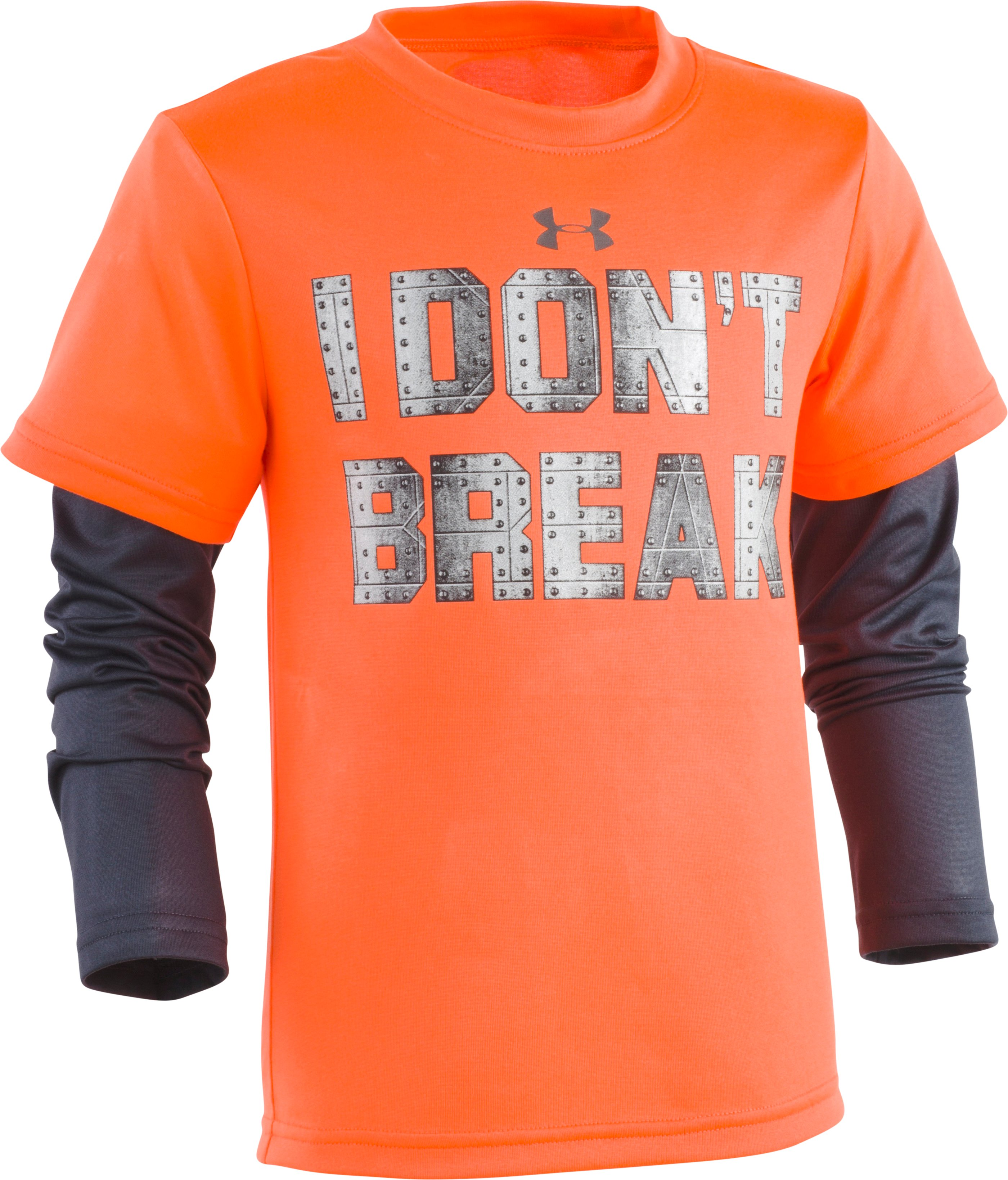 Boys' Toddler UA I Don't Break Slider Long Sleeve, MAGMA ORANGE