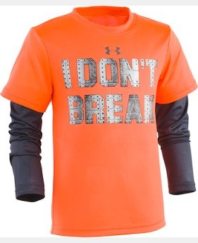 New Arrival Boys' Toddler UA I Don't Break Slider Long Sleeve  1 Color $27.99