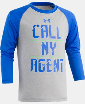 New Arrival Boys' Toddler UA Call My Agent Raglan Long Sleeve   $22.99