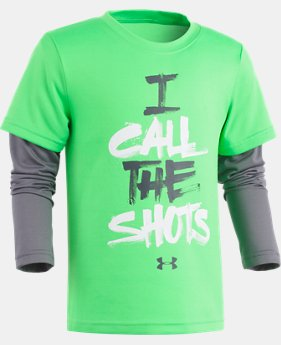 Boys' Pre-School UA I Call The Shots Slider Long Sleeve  1  Color Available $27.99