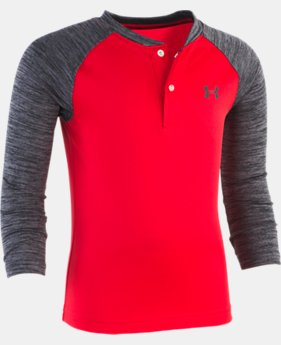 Boys' Pre-School UA Raglan Henley  1  Color Available $28.99