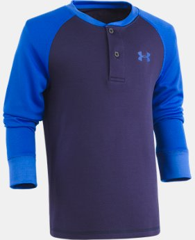 New Arrival Boys' Pre-School UA Raglan Henley  1 Color $28.99