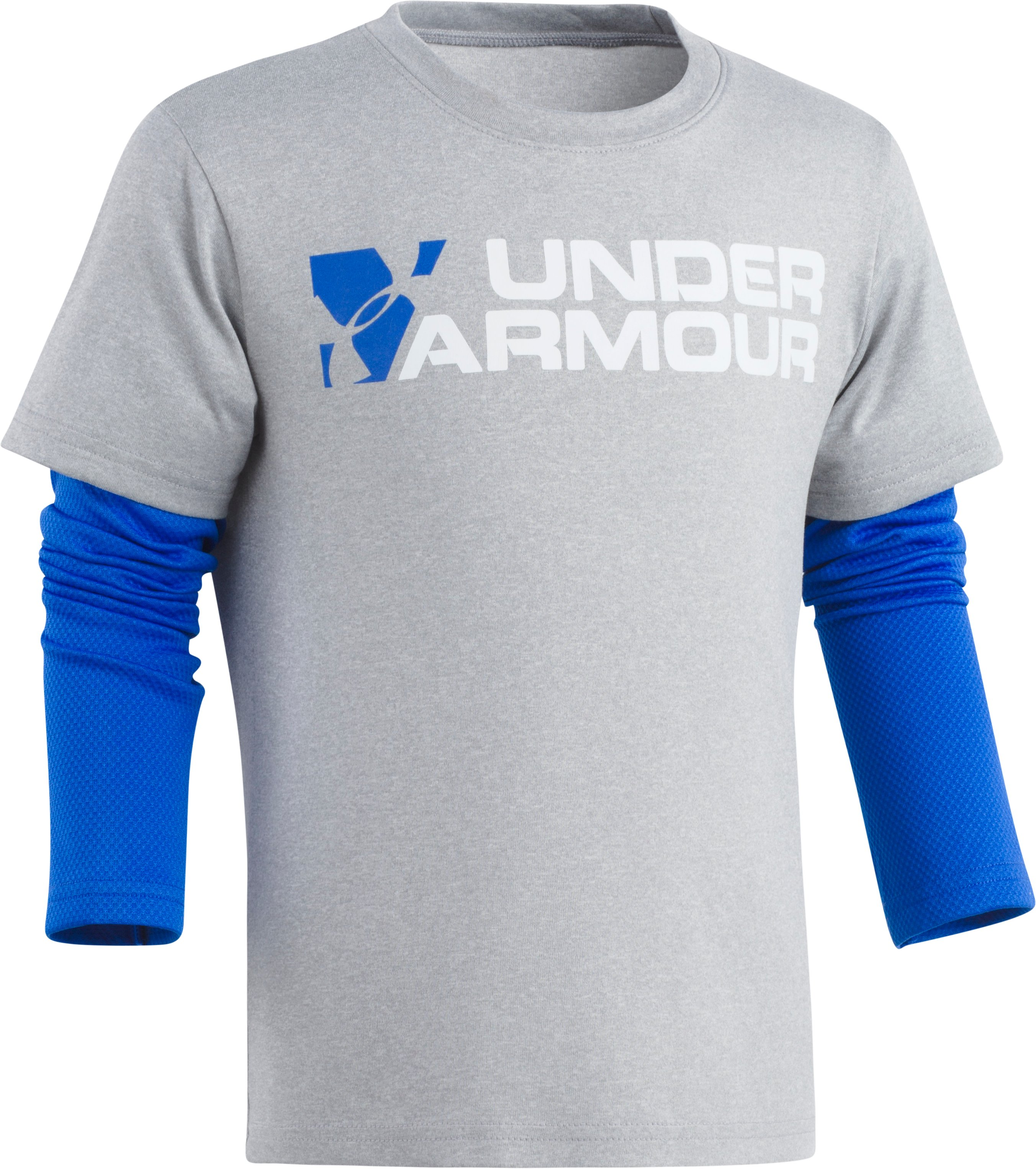 Under Armour Slider 4-7, True Gray Heather, zoomed image