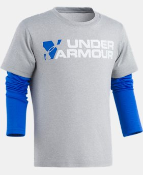 Boys' Pre-School UA Wordmark Slider  1  Color Available $29.99