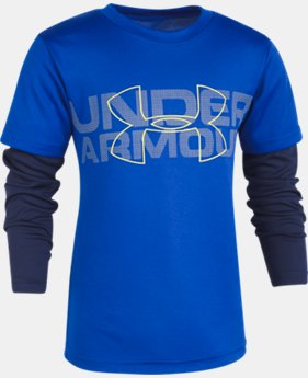 Boys' Pre-School UA Big Wordmark Slider  3  Colors Available $29.99