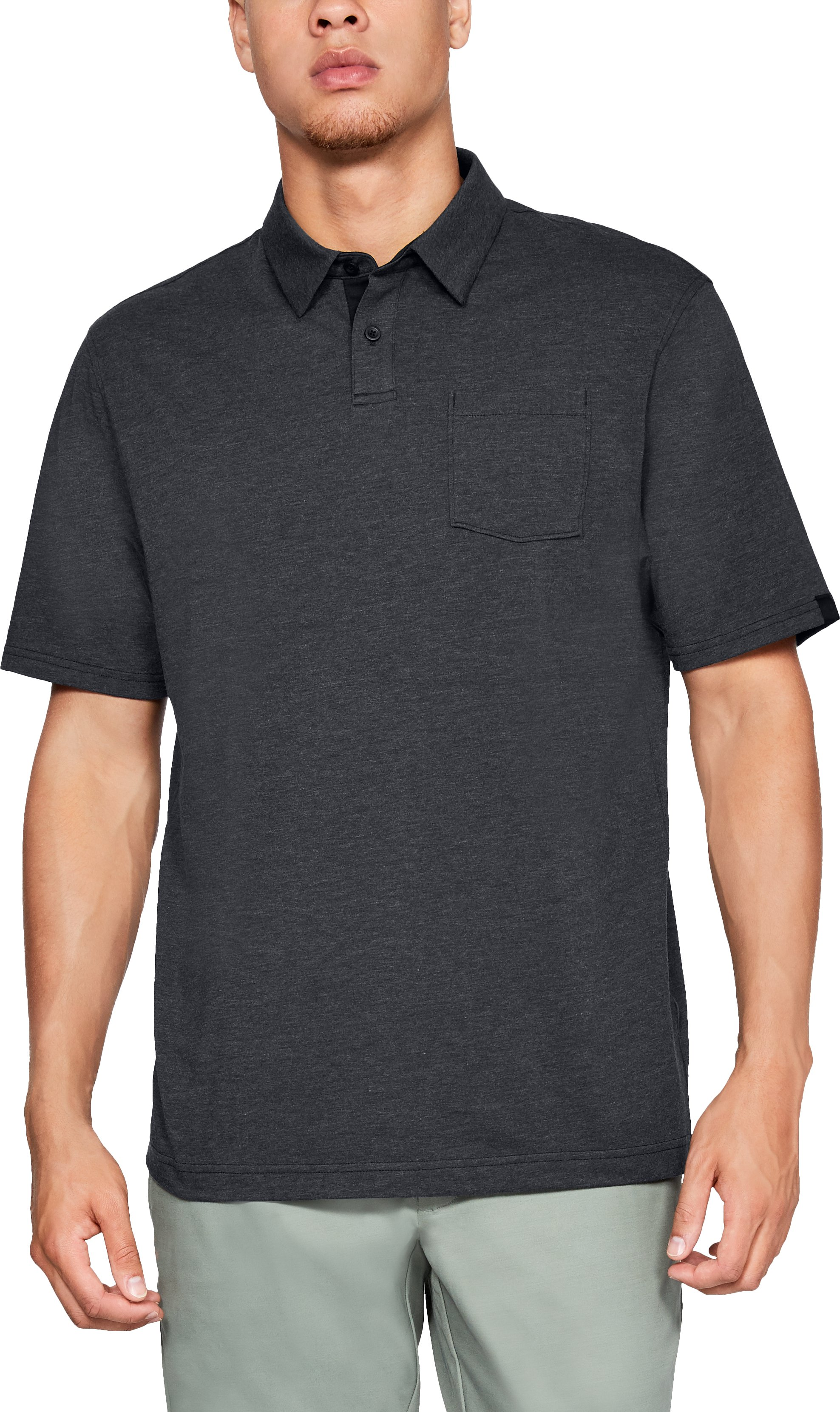 Men's Charged Cotton® Scramble Polo, Black